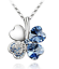 Collana-Donna-Quadrifoglio-Cristallo-Charms-Swarovski-Portafortuna-Regalo-Top miniatura 15