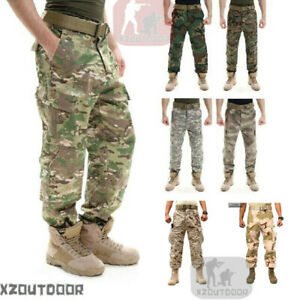Airsoft-TACTICAL-Military-Army-Designer-Camo-Combat-Cargo-Trousers-Pants-Hunting