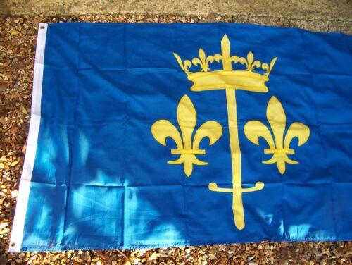 DRA043  DRAPEAU JEANNE  D ARC  90X150 CM   NEUF AVEC OEILLET DE  FIXATION  FLAG