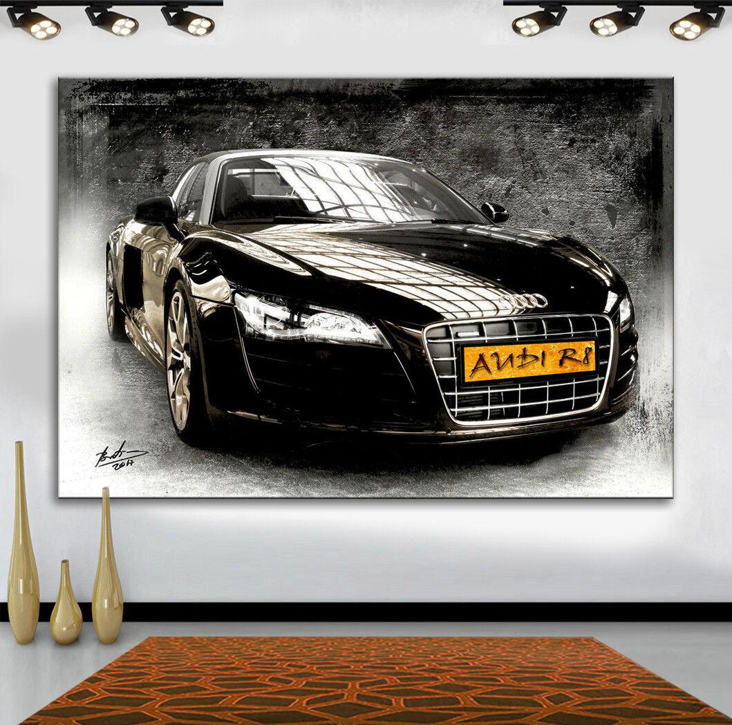 Auto AUDI R8 Sportwagen Abstrakte Bilder auf Leinwand Deko Wandbilder 1693A