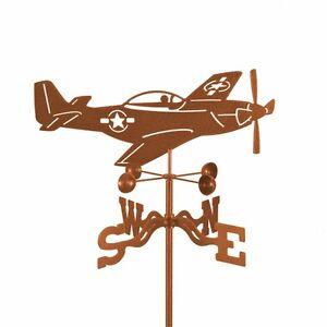 Airplane-North-American-P-51-Mustang-Plane-Weathervane-Vane-w-Choice-of-Mount