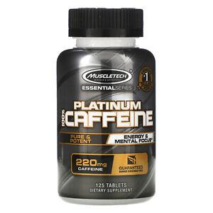 Essential Series, Platinum 100% Caffeine, 220 mg, 125 Tablets