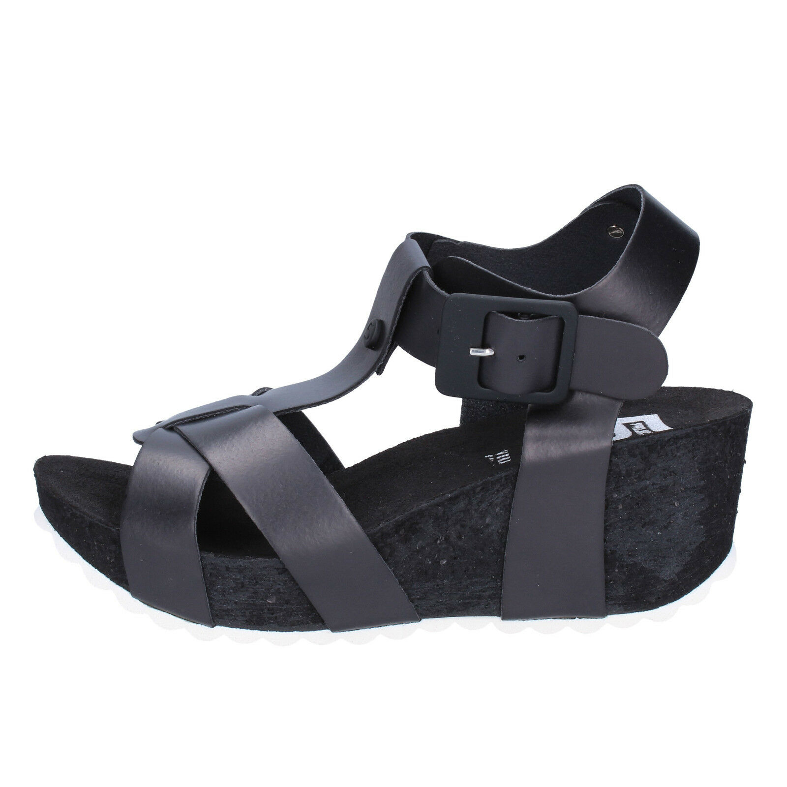 Scarpe donna sandali 5 PRO JECT 38 EU sandali donna nero pelle AC606-D d1fc49