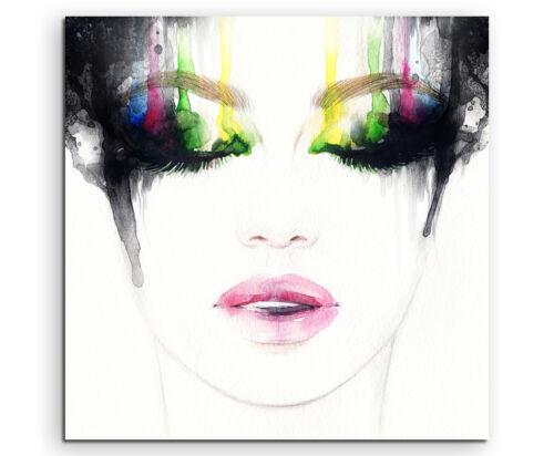 Frau mit abstraktem Make-Up Wandbild auf Leinwand in verschiedenen Größen