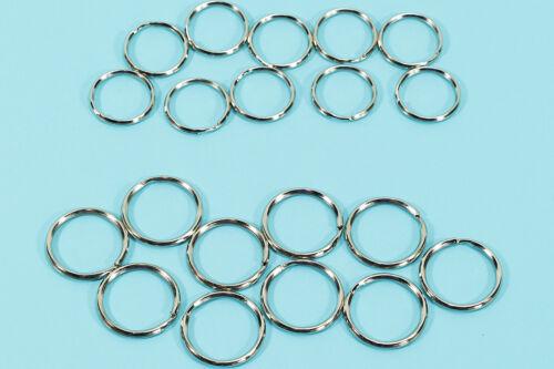WOW 20x Schlüsselring Metallring Schlüsselbandring Schlüsselanhänger-Ring-Clip