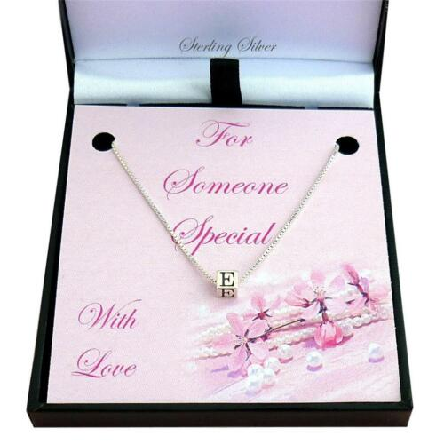 inicial colgante regalo para alguien especial Plata de ley collar de letras
