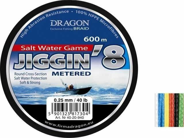 Dragon Salt Water Game Jiggin 8 600m 0,25-0,38mm   trecciati per aqua salata