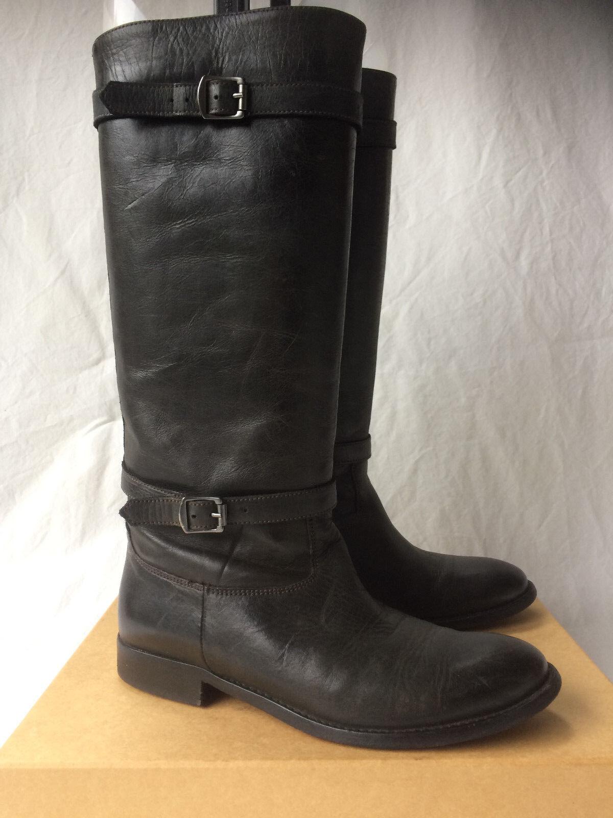 Belstaff Shannon Bottes Femmes bottes. taille 37. UK 5. Cuir. Noir.