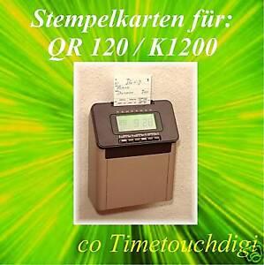 Stempelkarten für Kienzle Bürk K-1200 / Seiko QR 120