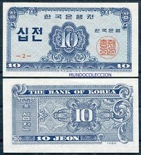 COREA DEL SUR SOUTH KOREA  10 jeon  1962  Pick 28 SC  /  UNC