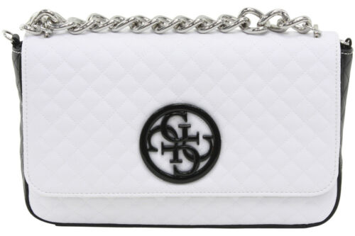 Guess Women/'s G Lux Quilted Man-Made Leather Flap-Over Crossbody Handbag