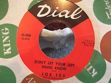 45% JOE TEX A WOMEN CAN CHANGE A MAN / DONT LET YOUR LEFT HAND KNOW