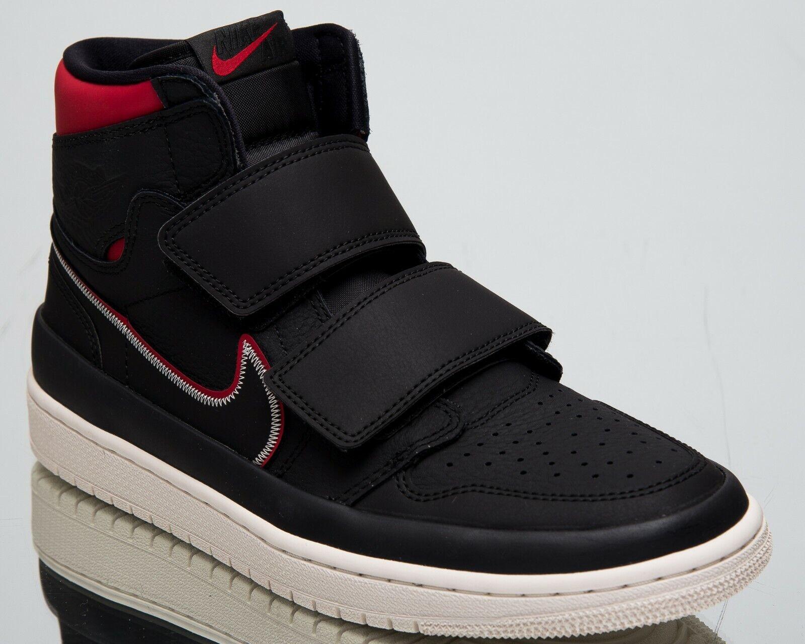 Luft Jordan 1 Retro Hoch Doppelriemen Neu Herren Lifestyle Schuhe Schwarz