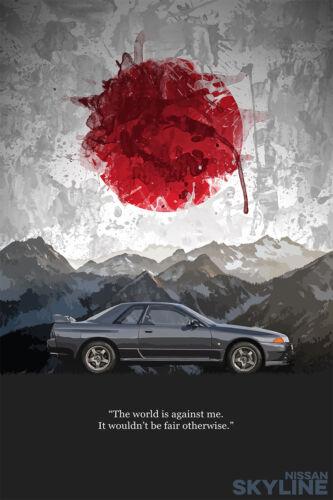 Nissan Skyline GTR R32 Poster Art Print 24x36in