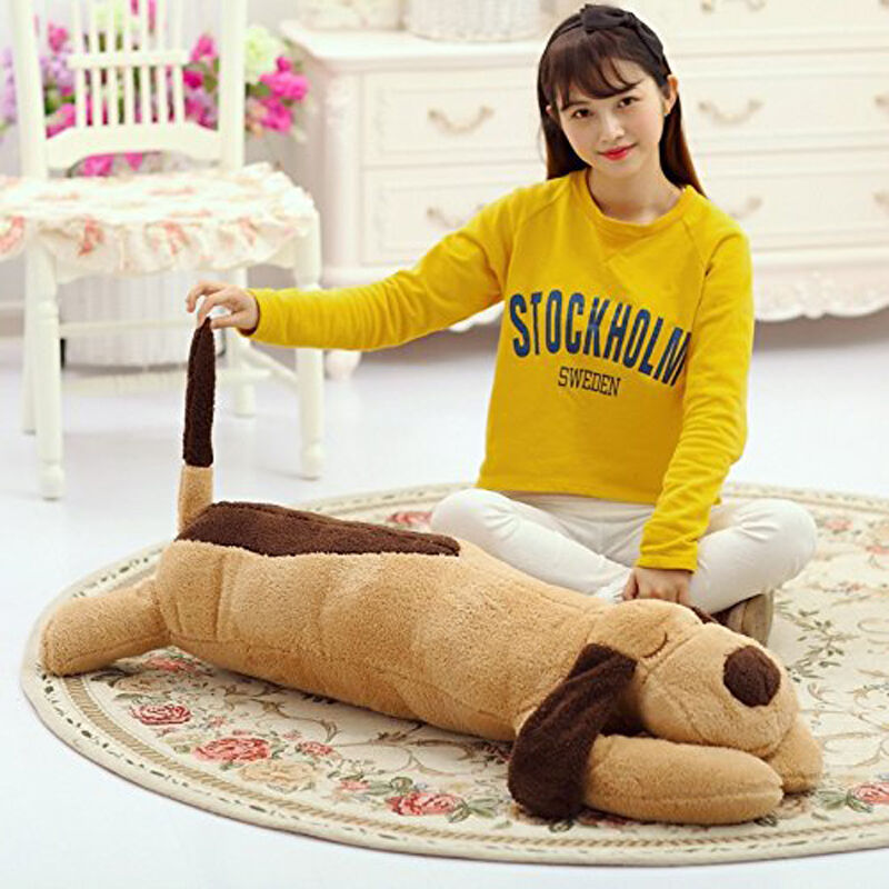 110CM Big Plush Dog Giant Large Stuffed Soft Plush Baby Toys Doll Birthday Gift