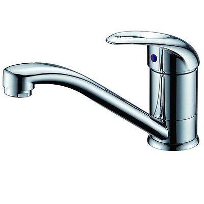 Swivel Standard Round Flick Basin Sink Vanity Mixer Tap Faucet  Open Loop Handle