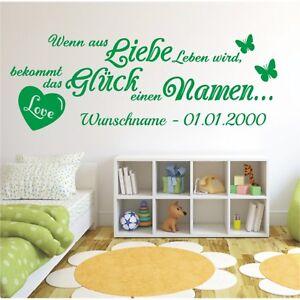Wandtattoo-Spruch-Liebe-Leben-Glueck-Namen-Wunschname-Wandsticker-Aufkleber-1