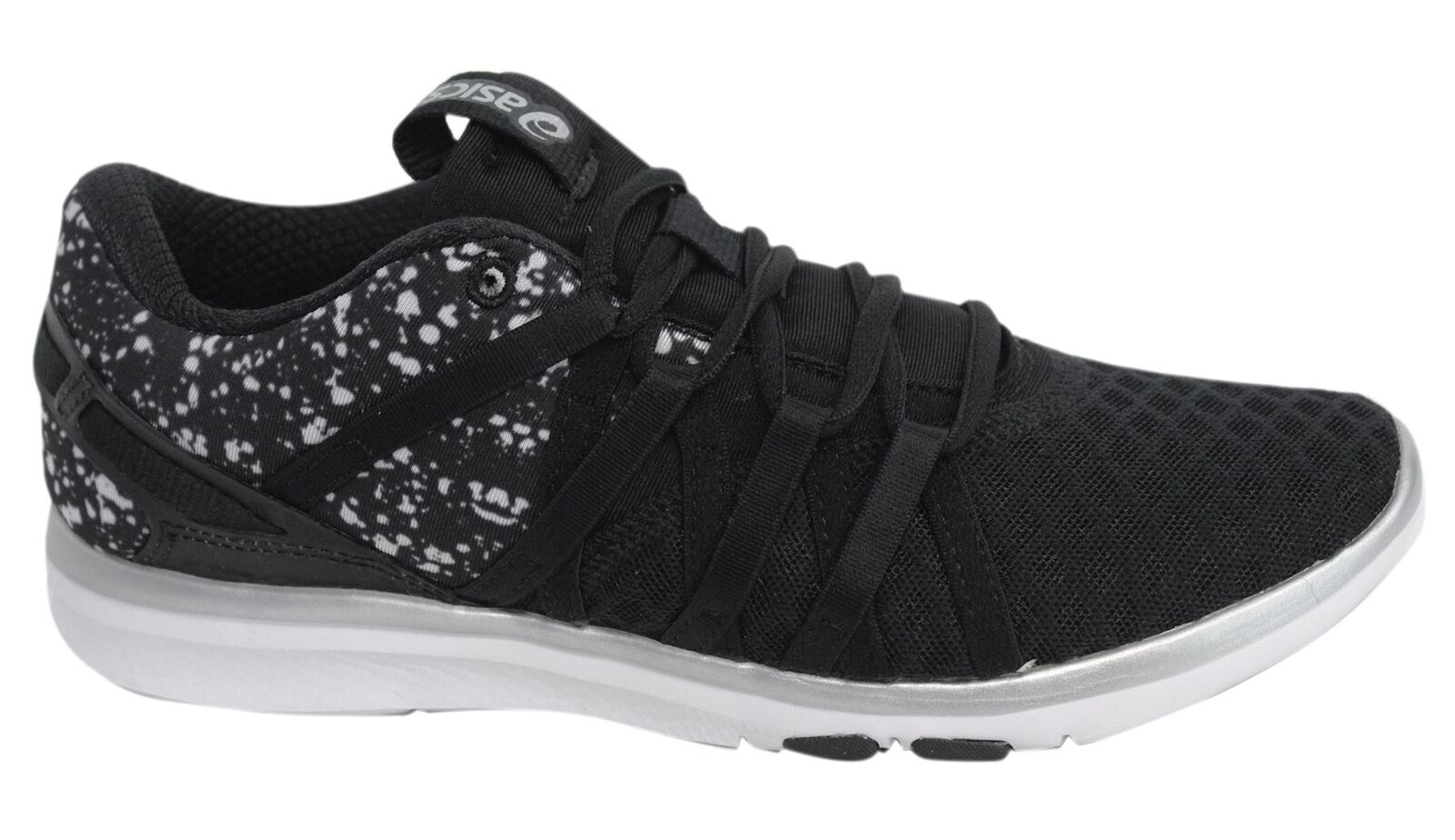 Asics Asics Asics Gel-Fit Yui Black Lace Up Womens Textile Trainers S750N 9093 U18 06117e