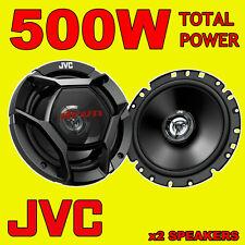 JVC 500W TOTAL 2-WAY 6.5 INCH 16cm CAR VAN DOOR/SHELF COAXIAL SPEAKERS + GRILLS