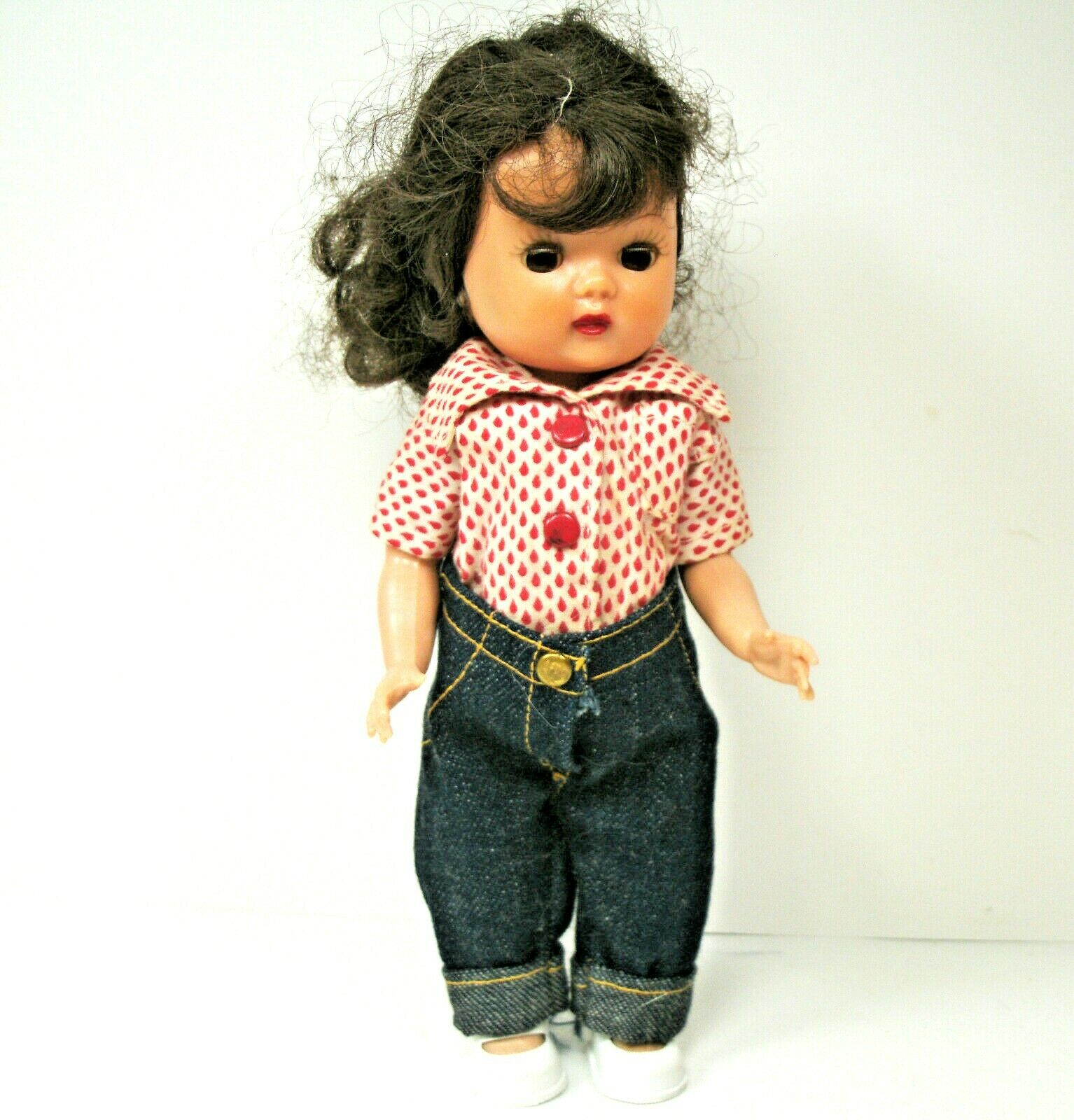 Muffie Nancy Ann Storybook Doll Walker Wearing Jane Miller Tagged Clothes