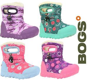 Bogs Baby Wellies Girls BMOC Printed Waterproof -20 Fur Lined Kids Boots UK 5-12