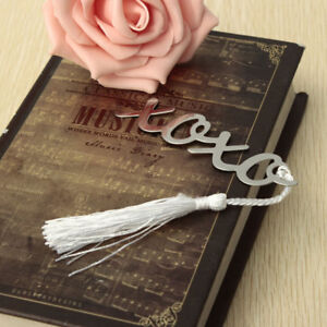 Metal-Silver-Bookmark-Stationery-Book-Mark-Marker-Note-Assorted-Label-Gift-XOXO