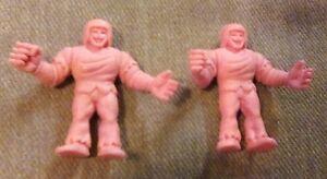 2-Vintage-M-U-S-C-L-E-MUSCLE-Men-Figure-231-Warsman-D-1985-Mattel-Flesh