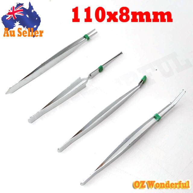 4pcs tweezer set kit stainless steel tool multipurpose tweezers plucker nail