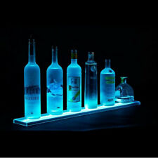 24 Lighted Liquor Bottle Display Glassware Behind Bar Shelf Remote Color Led