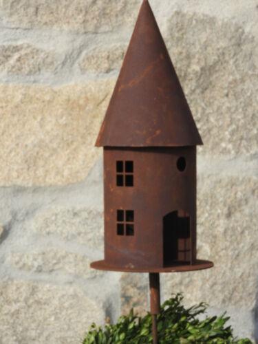 Edelrost Vogelhaus Dekoration Aufhänger Futterstelle Windlicht Futterstelle Deko