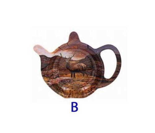 Stag Mélamine Tea Bag Tidy Teaspoon Titulaire reste EasyClean 2 Designs Leonardo