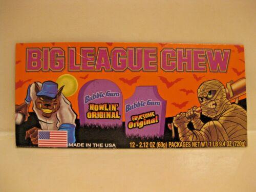 Halloween Big League Chew Display Sign Ad Werewolf Mummy Baseball Bubble Gum