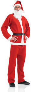 Mens-Santa-Claus-Father-Christmas-Xmas-Festive-Fancy-Dress-Costume-Outfit-M-L