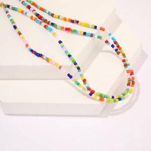Bohemian-Handmade-Rainbow-Beads-Choker-Necklace-Boho-Candy-Color-Bead-Necklace-J