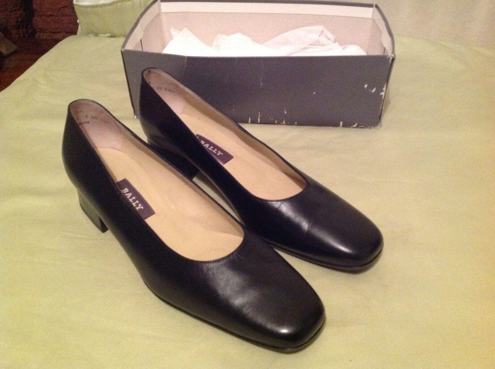 BALLY Cuir Noir Femmes Chaussures Taille C 6 U.K.