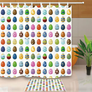 Image Is Loading Easter Eggs With Spring Pattern Bathroom Shower Curtain