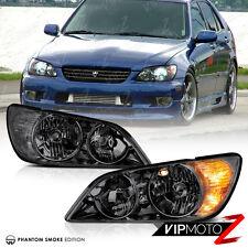 [TITANIUM SMOKE] 2001-2005 Lexus IS300 JCE10 Crystal JDM Headlights Lamps PAIR