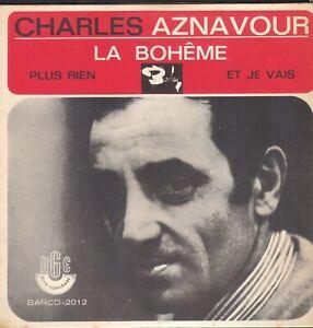 CHARLES-AZNAVOUR-45T-EP-PRESSAGE-BRESIL-LA-BOHEME-BIEM-BARCLAY-RGE-2012