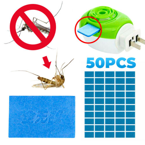 50Pcs Mosquito Repellent Tablet Insect Killer Blue No Toxic Pest Bite Mat Tablet