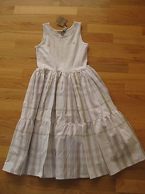 Girls' Clothing (sizes 4 & Up) Dresses Nwt Burberry White Dress W/gray Nova Check Plaid 8y Beneficial To Essential Medulla