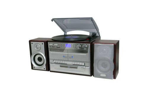 1 of 1 - Home Entertainment System Stereo Hi Fi HiFi Turntable Cassette cd mp3 USB brown