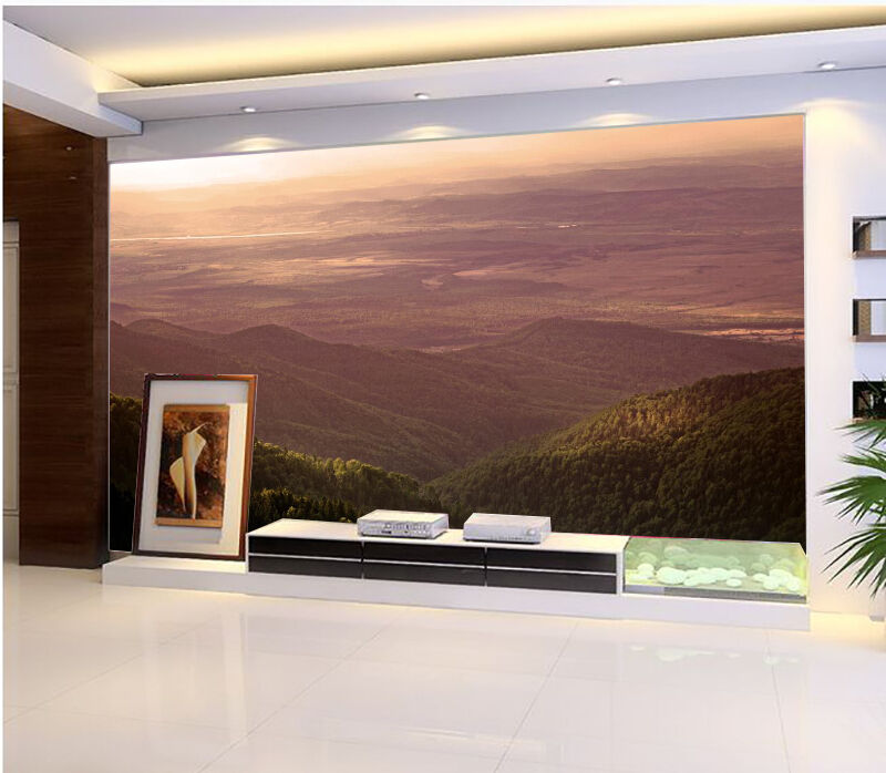 3D Mountain View 11 Wall Paper Wall Print Decal Wall Deco Indoor wall Mural Home