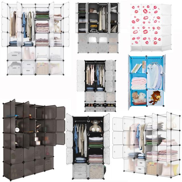 20 Cube DIY Modular Closet Organizer Shelving System Wardrobe Clothes Shoes  Rack For Sale Online | EBay