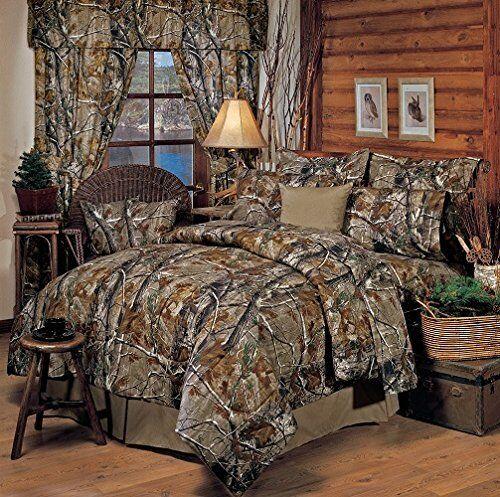 Realtree All Purpose Camo 6 Pc TWIN Comforter Bedding Set & 1 Shower Curtain