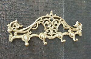 Wandgarderobe-Gold-Antik-Eisen-Garderobe-Barock-Landhaus-Vintage-Haken-38-cm