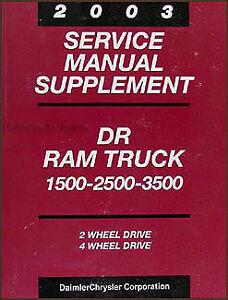 2003 dodge ram 47re automatic transmission shop manual 2500 3500 rh ebay com 1996 Dodge Truck Transmission Identification Dodge Truck Transmission Shifting Problems