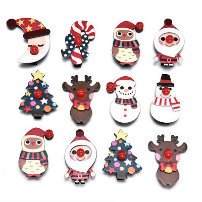Christmas Hair Clips.Cute Girl Headwear Christmas Hair Clips Xmas Snowman Santa Claus Hairpins Gift Ebay
