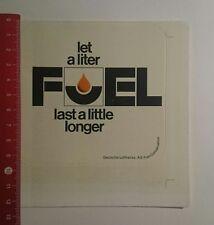 Aufkleber/Sticker: Deutsche Lufthansa let a Liter fuel last a Little (271216178)