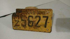 Texas-License-Plate-HZ5627-Vintage-Antique-1955
