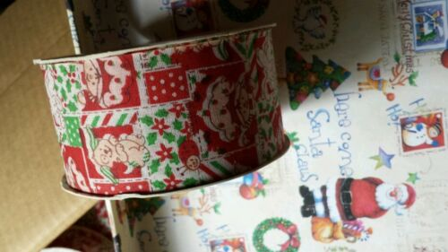 "Vintage Strawberry Shortcake Holiday Red Patchwork ribbon 8ft 2/"" craft"